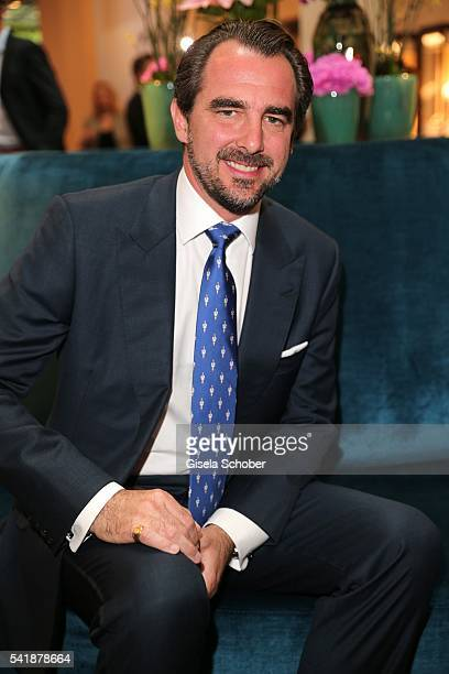 Prince Nikolaos of Greece during the presentation of the book 'Zu Gast in Griechenland Rezepte Kueche Kultur' at 'The Charles' Hotel on June 20 2016...