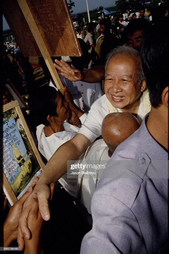Prince Norodom Sihanouk of Cambodia on visit in Phnom Tamao | Location Phnom Tamao Cambodia