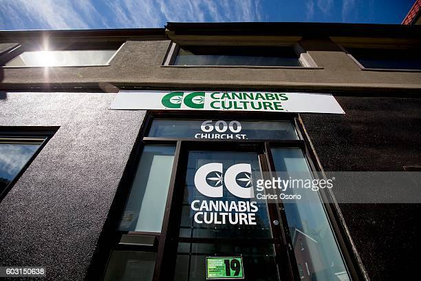 TORONTO ON SEPTEMBER 9 Prince Of Pot Marc Emery is seen holding his rental agreement inside Cannabis Culture at 600 Church Street after police were...