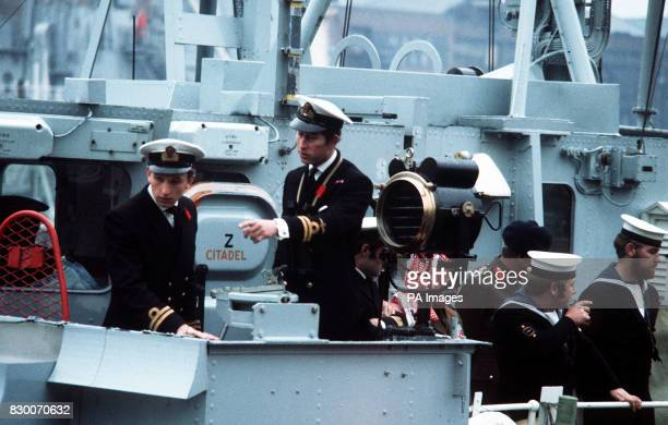 Prince of Wales Prince Charles on board the minesweeper HMS Bronington November 12 which he took command of in February of the same year The Prince...