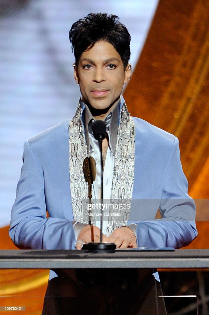 Prince onstage at the 42nd NAACP Image Awards held at The Shrine Auditorium on March 4, 2011 in Los Angeles, California.