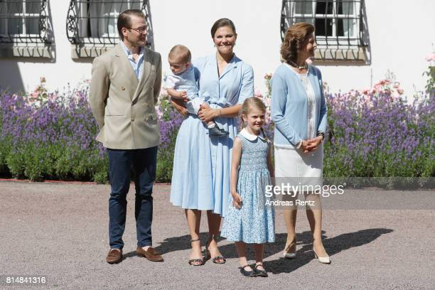 Prince Oscar of Sweden Prince Daniel of Sweden Princess Estelle of Sweden Crown Princess Victoria of Sweden Queen Silvia of Sweden and King Carl...