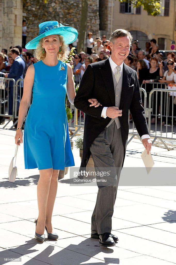 Prince Paul-Louis and Princess Sibilla attend the Religious Wedding Of Prince Felix Of Luxembourg and Claire Lademacher at Basilique Sainte Marie-Madeleine on September 21, 2013 in Saint-Maximin-La-Sainte-Baume, France.