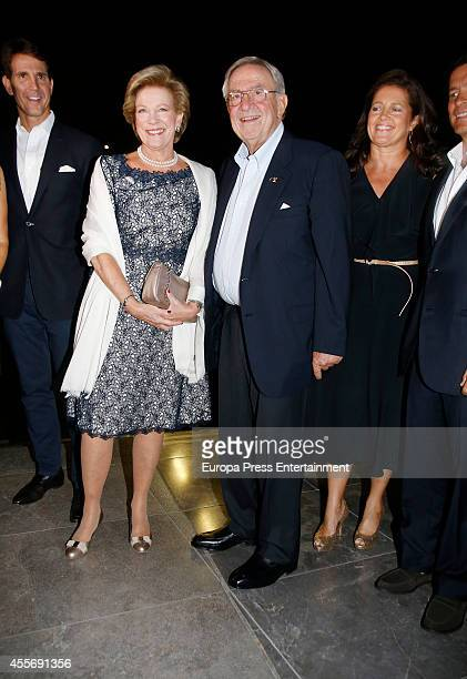 Prince Pavlos of Greece Queen AnneMarie of Greece King Constantine II of Greece and Princess Alexia of Greece attend the Golden Wedding Anniversary...