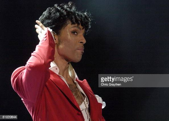 Prince performs at the 10th Anniversary Essence Music Festival at the Superdome on July 2 2004 in New Orleans Louisiana