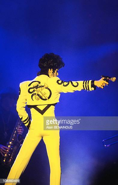 Prince performs in Bercy in Paris France on September 01 1993