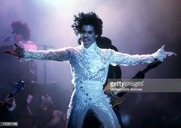 Prince performs live at the Fabulous Forum on February 19 1985 in Inglewood California