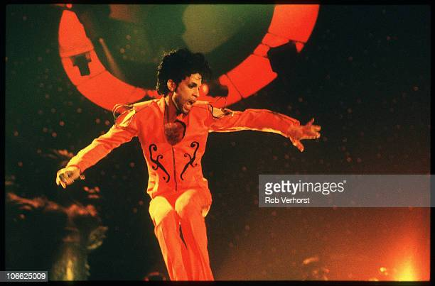 Prince performs on stage at Ahoy on 6th July 1992 in Rotterdam Netherlands