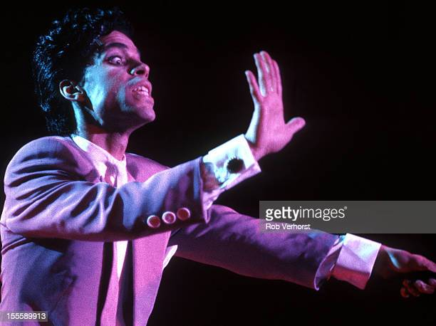 Prince performs on stage at Ahoy Rotterdam Netherlands 19th August 1986