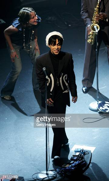 Prince performs on stage at Koko on May 10 2007 in London England