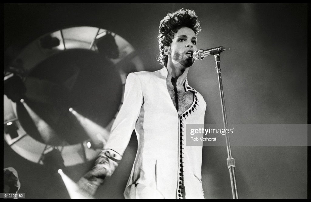 Prince performs on stage on his Diamonds & Pearls tour, Ahoy, Rotterdam, Netherlands, 27th May 1992.
