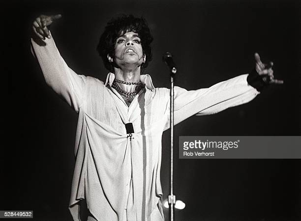 Prince performs on stage on the Act II Tour Brabant hallen Den Bosch Netherlands 9th August 1993