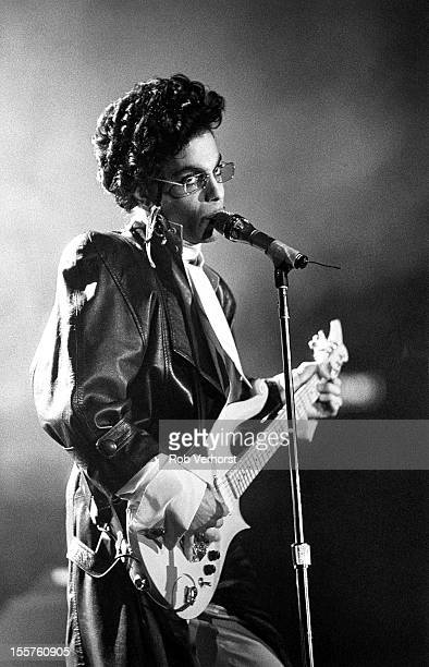 Prince performs on stage on the Sign of the Times Tour at Isstadion Stockholm Sweden 9th May 1987