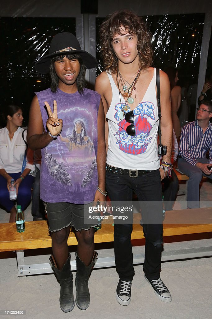Prince Peter (L) and Jacob Dekat attend the Minimale Animale show during Mercedes-Benz Fashion Week Swim 2014 at Oasis at the Raleigh on July 22, 2013 in Miami, Florida.