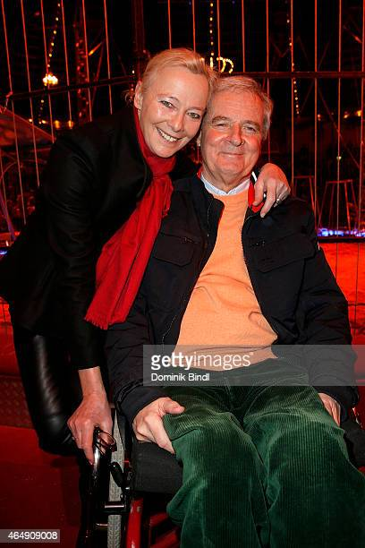 Prince Peter zu Hohenlohe and Princess Uschi zu Hohenlohe attend the Circus Krone March Premiere at Circus Krone on March 1 2015 in Munich Germany