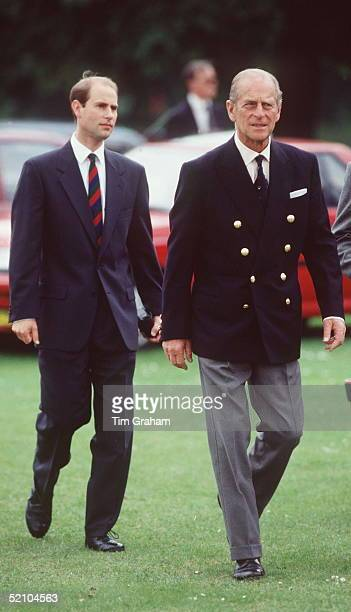 Prince Philip And Prince Edward At A Charity Cricket Match In Aid Of The Prince Philip Trust Fund Windsor