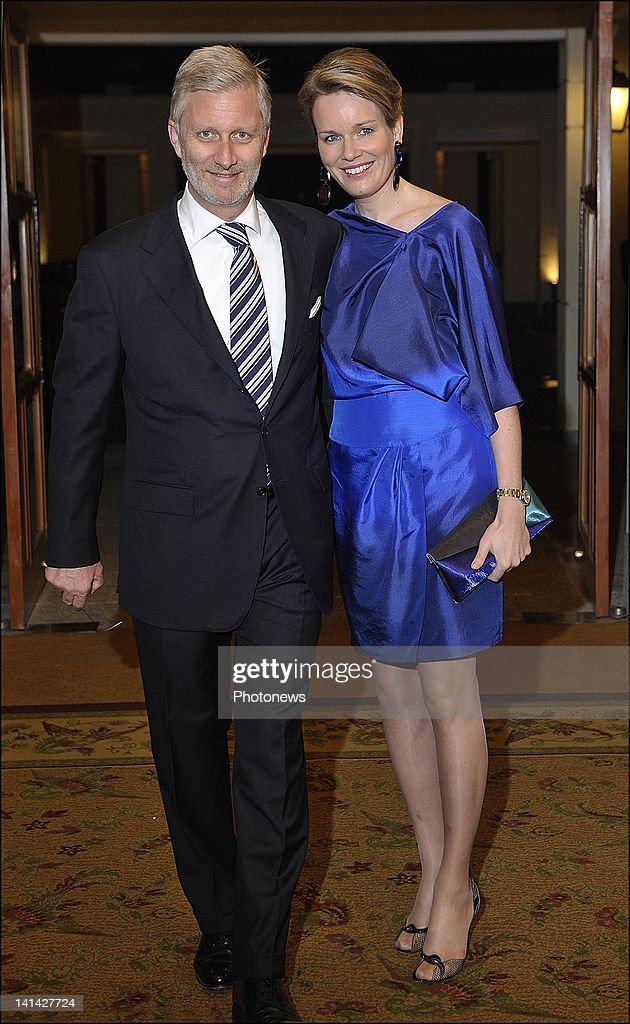 Prince Philip and Princess Mathilde of Belgium arrive at the Official Belgian Reception at the Sheraton Hotel of Hanoi hosted by Prince Philip and Princess Mathilde during their official visit to Vietnam on March 13,2012 in Hanoi,Vietnam.
