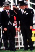 Prince Philip And The Earl Of Carnarvon At The Derby