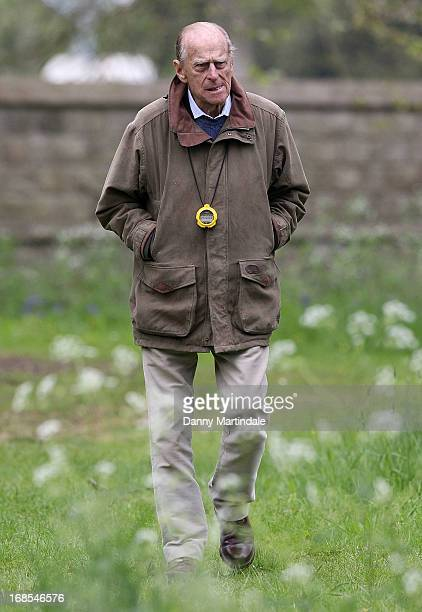 Prince Philip Duke of Edinburg attends day 4 of the Royal Windsor Horse Show on May 11 2013 in Windsor England