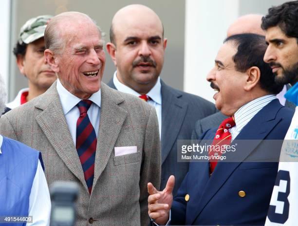 Prince Philip Duke of Edinburgh and Hamad bin Isa AlKhalifa King of Bahrain attend the Royal Windsor Endurance event on day 3 of the Royal Windsor...