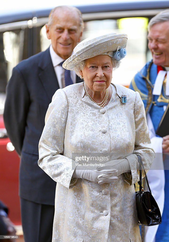 <a gi-track='captionPersonalityLinkClicked' href=/galleries/search?phrase=Prince+Philip&family=editorial&specificpeople=92394 ng-click='$event.stopPropagation()'>Prince Philip</a>, Duke of Edinburgh and Queen <a gi-track='captionPersonalityLinkClicked' href=/galleries/search?phrase=Elizabeth+II&family=editorial&specificpeople=67226 ng-click='$event.stopPropagation()'>Elizabeth II</a> attend a service of celebration to mark the 60th anniversary of Queen <a gi-track='captionPersonalityLinkClicked' href=/galleries/search?phrase=Elizabeth+II&family=editorial&specificpeople=67226 ng-click='$event.stopPropagation()'>Elizabeth II</a>'s Coronation at Westminster Abbey on June 4, 2013 in London, England. The Queen's Coronation took place on June 2, 1953 after a period of mourning for her father King George VI, following her ascension to the throne on February 6, 1952. The event 60 years ago was the first time a coronation was televised for the public.