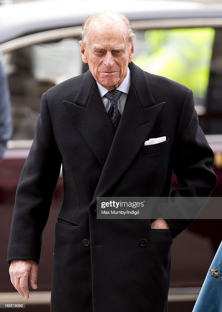 Prince Philip, Duke of Edinburgh arrives at Westminster Abbey to attend The Commonwealth Day Observance on March 11, 2013 in London, England. Queen Elizabeth II, who is the head of the Commonwealth, was due to attend the event, but cancelled as she continues her recovery after a brief illness. Commonwealth Day Observance takes place annually on the second Monday in March, and this year's theme is 'Opportunity Through Enterprise'.