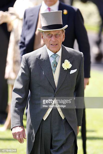 Prince Philip Duke of Edinburgh attends day 3 Ladies Day of Royal Ascot at Ascot Racecourse on June 18 2015 in Ascot England