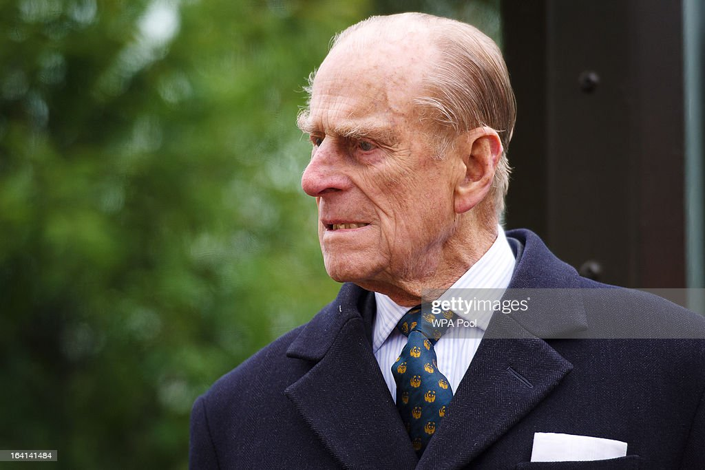 Prince Philip, Duke of Edinburgh attends the opening of London Zoo's new Tiger Territory, a 3.6GBP million project to house Sumatran tigers Jae Jae and Melati, at ZSL London Zoo on March 20, 2013 in London, England.