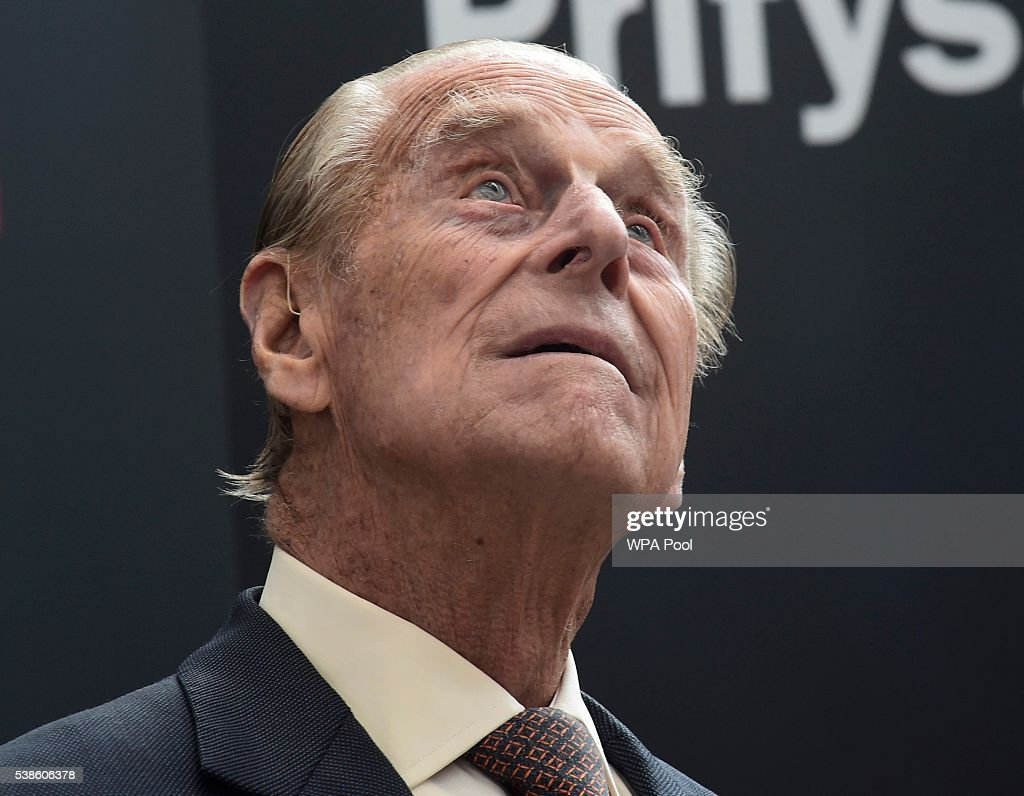 Prince Philip, Duke of Edinburgh attends the opening of the Cardiff University Brain Research Imaging Centre on June 7, 2016 in Cardiff, Wales.