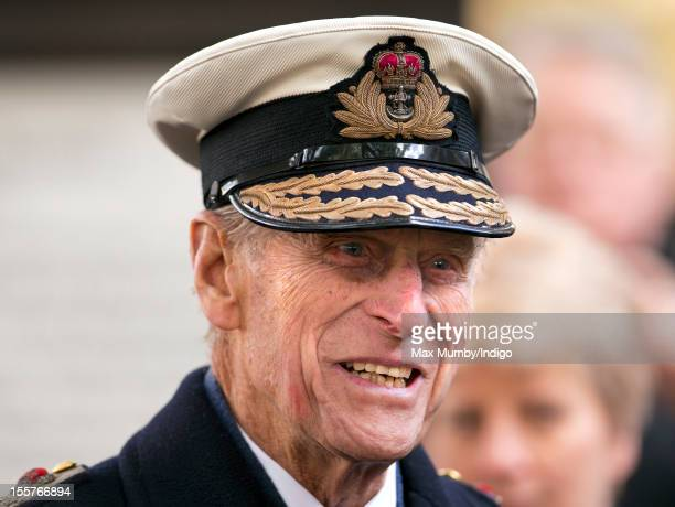 Prince Philip Duke of Edinburgh attends the opening of The Field of Remembrance at Westminster Abbey on November 08 2012 in London England