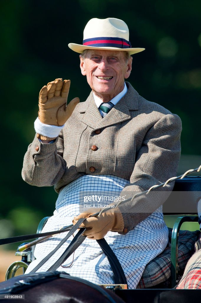 Prince Philip, Duke of Edinburgh attends the Royal Windsor Horse Show at Home Park on May 18, 2014 in Windsor, England.