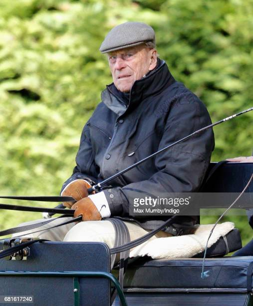 Prince Philip Duke Of Edinburgh Carriage Driving On Day 1 The Royal Windsor Horse Show