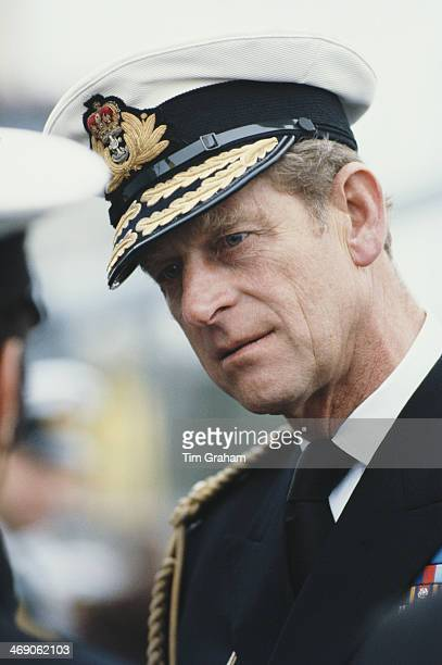 Prince Philip Duke of Edinburgh in the uniform of the Admiral of the Fleet in Bremerhaven Germany May 1978