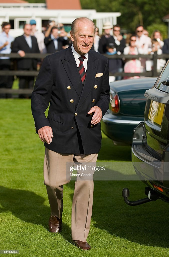 <a gi-track='captionPersonalityLinkClicked' href=/galleries/search?phrase=Prince+Philip&family=editorial&specificpeople=92394 ng-click='$event.stopPropagation()'>Prince Philip</a>, Duke of Edinburgh leaves the Guards Polo Club after having attended the Queen's Cup at Guards Polo Club on June 14, 2009 in Egham, England.