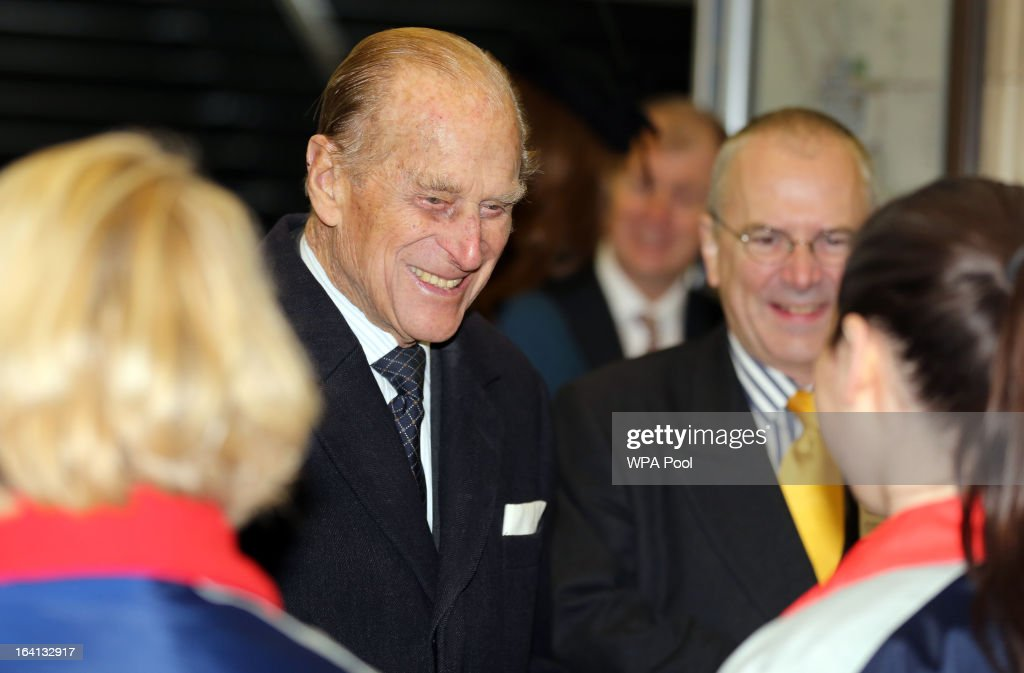 Prince Philip, Duke of Edinburgh makes an official visit to Baker Street Underground Station, to mark 150th anniversary of the London Underground on March 20, 2013 in London, England.