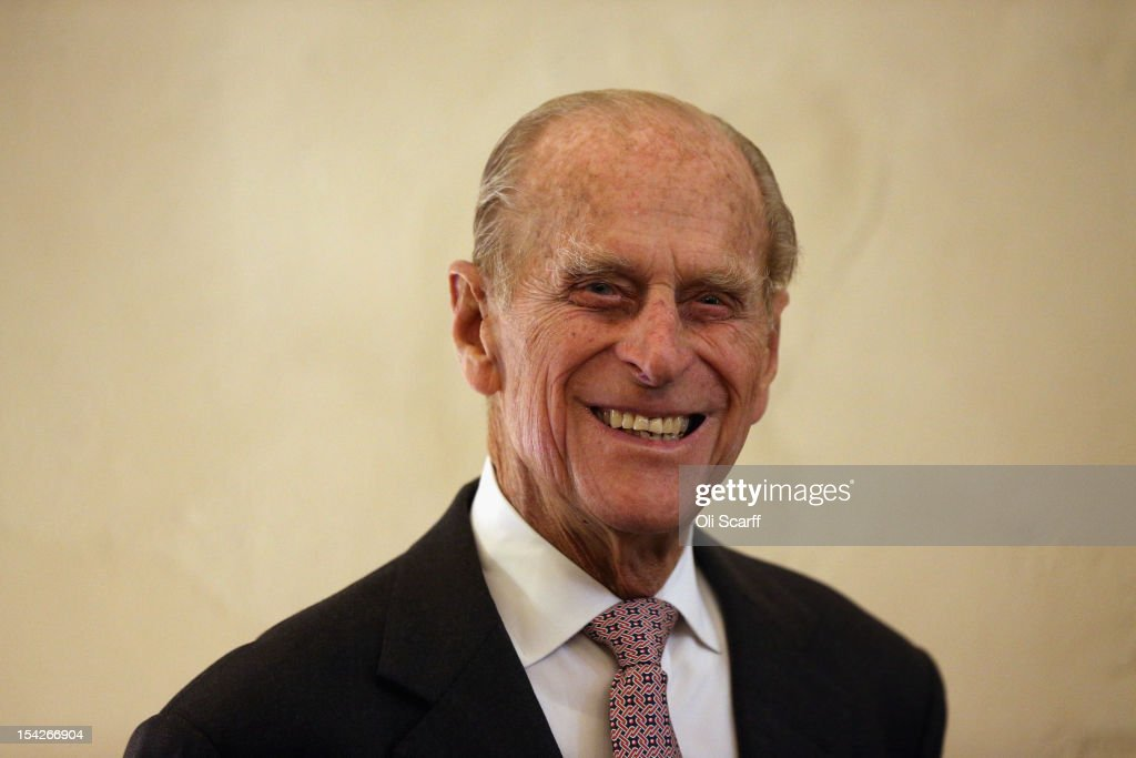 Prince Philip, Duke of Edinburgh officially opens the new Cellarium cafe at Westminster Abbey on October 17, 2012 in London, England. During his visit to the Abbey the Duke of Edinburgh received a tour of the new Cellarium Cafe, the shop and kitchens, meeting staff, college members and leading donors to Westminster Abbey.