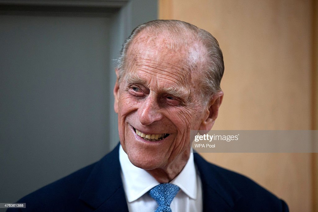 <a gi-track='captionPersonalityLinkClicked' href=/galleries/search?phrase=Prince+Philip&family=editorial&specificpeople=92394 ng-click='$event.stopPropagation()'>Prince Philip</a>, Duke of Edinburgh, smiles after unveiling a plaque at the end of his visit to Richmond Adult Community College in Richmond on June 8, 2015 in London, England. <a gi-track='captionPersonalityLinkClicked' href=/galleries/search?phrase=Prince+Philip&family=editorial&specificpeople=92394 ng-click='$event.stopPropagation()'>Prince Philip</a>, officially opened and was shown round the new art, drama and dance facilities at the further education college which offers up to 2,000 courses.