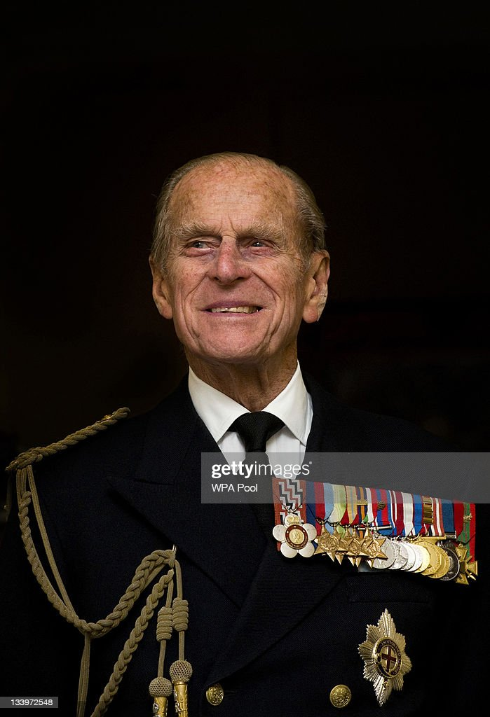 <a gi-track='captionPersonalityLinkClicked' href=/galleries/search?phrase=Prince+Philip&family=editorial&specificpeople=92394 ng-click='$event.stopPropagation()'>Prince Philip</a>, Duke of Edinburgh smiles during a visit to the Admiralty Board and Admiralty House on 23 November, 2011 in London, England. The Duke of Edinburgh was inaugurated as Lord High Admiral as well as formally receiving the Letters Patent, followed by a lunch given by the First Sea Lord at Admiralty House.