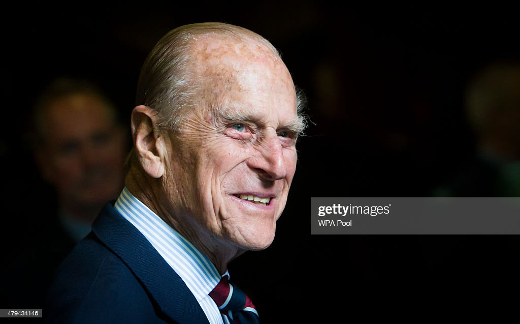 Prince Philip, Duke of Edinburgh smiles during a visit to the headquarters of the Royal Auxiliary Air Force's (RAuxAF) 603 Squadron on July 4, 2015 in Edinburgh, Scotland.