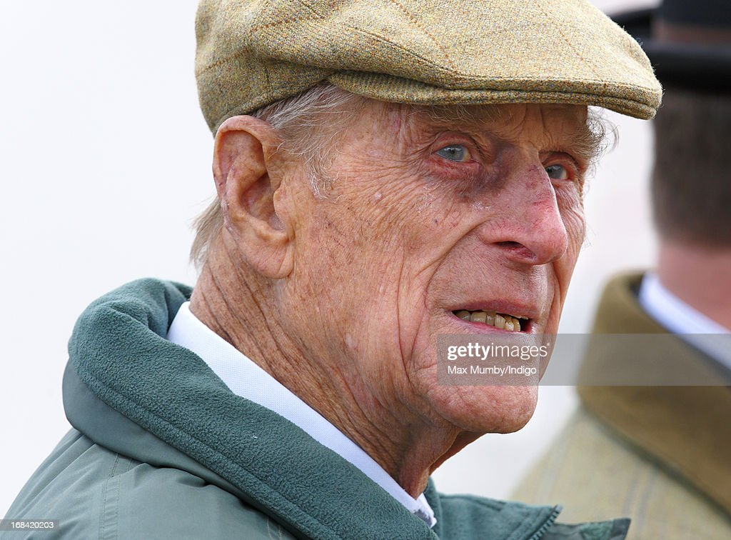 Prince Philip, Duke of Edinburgh watches the Driving for the Disabled competition on day 2 of the Royal Windsor Horse Show on May 9, 2013 in Windsor, England.
