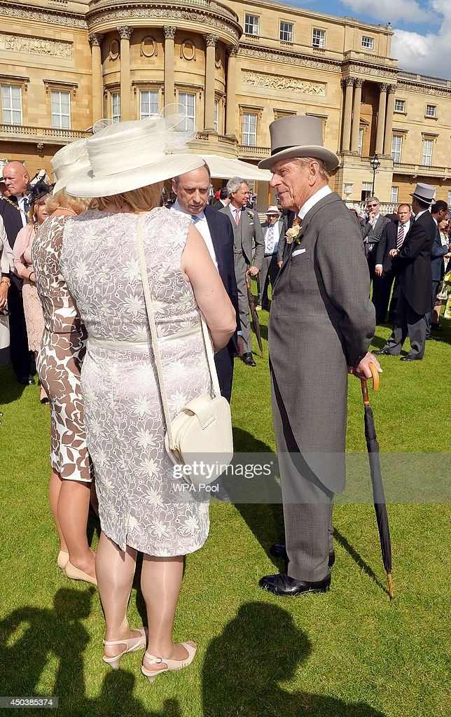 Prince Philip, Duke of Edinburgh, who is 93 years old today, attends a garden party held at Buckingham Palace on June 10, 2014 in London, England.