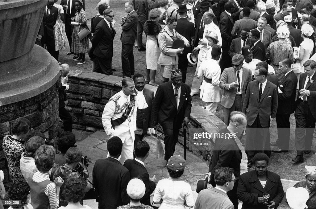 Prince Philip, Duke of Edinburgh with Jomo Kenyatta (1889 - 1978), Kenya's first Premier, during the Kenyan Independence Day Celebrations.