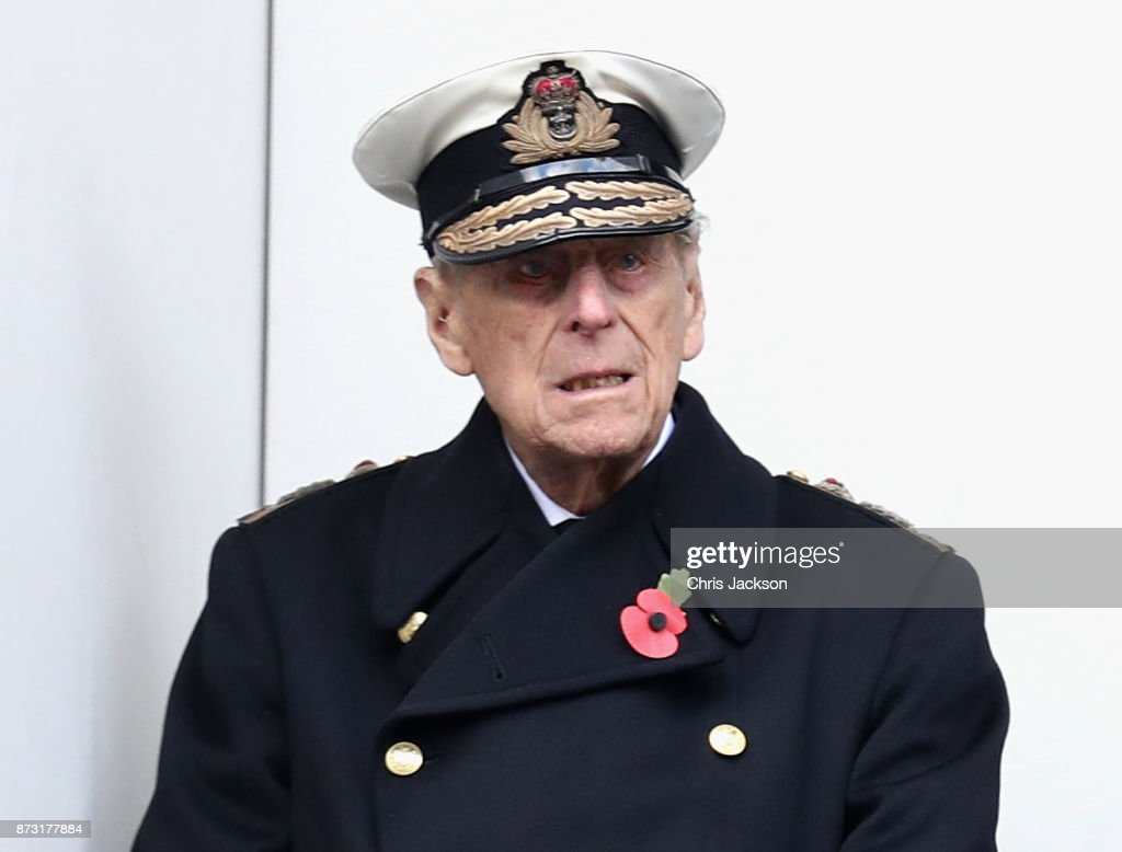 Prince Philip, Duke of Edinburghl during the annual Remembrance Sunday memorial on November 12, 2017 in London, England. The Prince of Wales, senior politicians, including the British Prime Minister and representatives from the armed forces pay tribute to those who have suffered or died at war.