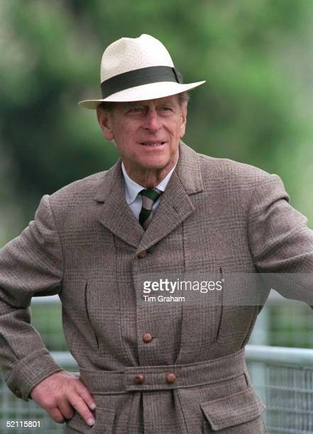 Prince Philip In Panama Sunhat Strolls At A Carriage Driving Competition In The Grounds Of Windsor Castle
