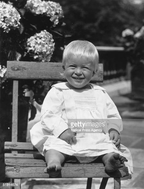 Prince Philip of Greece later Duke of Edinburgh as a toddler July 1922