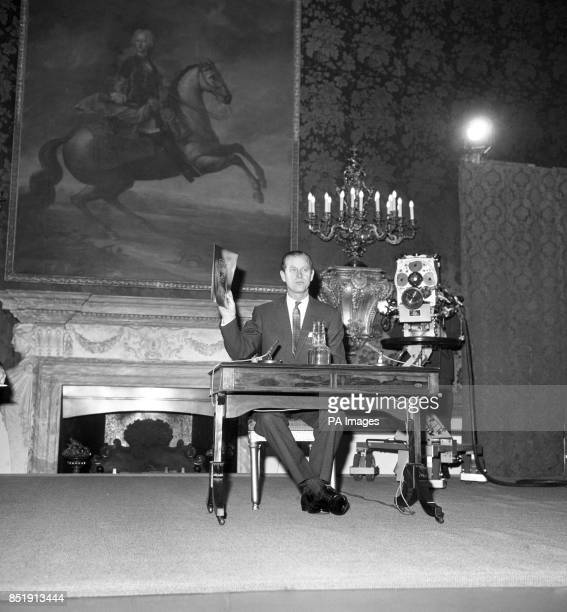 Prince Philip The Duke of Edinburgh at his press conference to give information on plans for the Award Scheme in the 1970's and the 'new look' which...