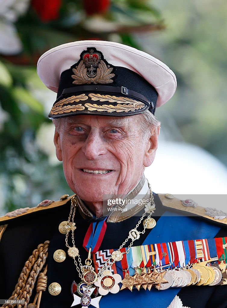 <a gi-track='captionPersonalityLinkClicked' href=/galleries/search?phrase=Prince+Philip&family=editorial&specificpeople=92394 ng-click='$event.stopPropagation()'>Prince Philip</a>, the Duke of Edinburgh awaits the arrival of President of the United Arab Emirates, His Highness Sheikh Khalifa bin Zayed Al Nahyan for a ceremonial welcome on April 30, 2013 in Windsor, England. President Sheikh Khalifa begins a State visit to the UK today, the first for a UEA President in 24 years. Sheikh Khalifa will meet the British Prime Minister David Cameron tomorrow at his Downing Street residence.