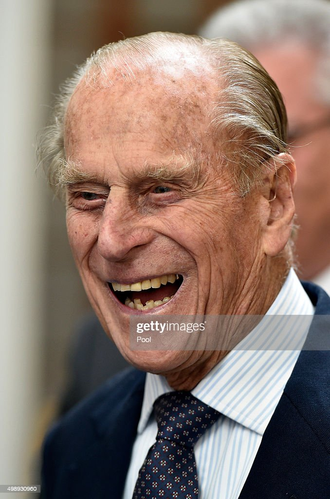 Prince Philip, the Duke of Edinburgh laughs at the launch of the friends of the Award Programme during the Commonwealth Heads of Government Meeting (CHOGM) on November 27, 2015 near Valletta, Malta. Queen Elizabeth II, The Duke of Edinburgh, Prince Charles, Prince of Wales and Camilla, Duchess of Cornwall arrived yesterday to attend the Commonwealth Heads of State Summit.