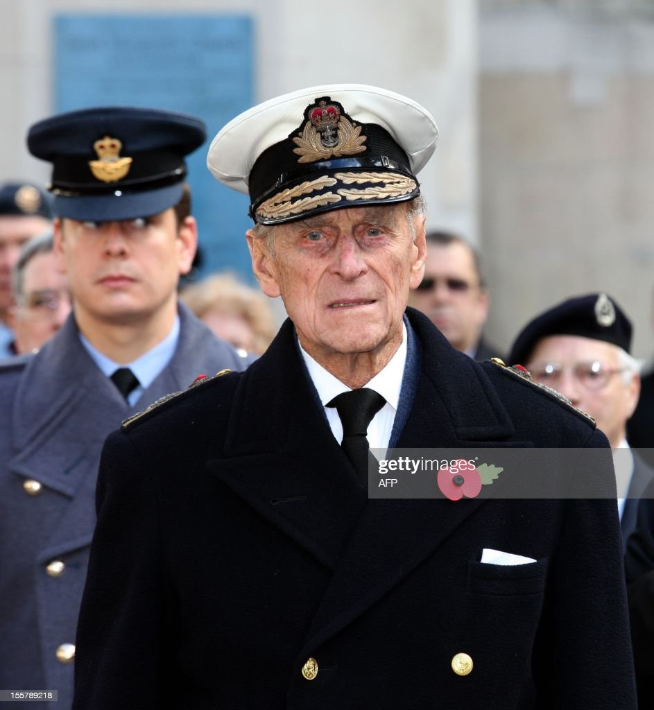 Prince Philip, The Duke of Edinburgh pays his respects during his visit to the Field of Remembrance at Westminster Abbey in London on November 8, 2012.