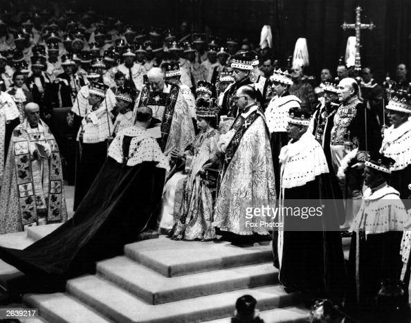 Prince Philip the Duke of Edinburgh pays homage to Queen Elizabeth II during her Coronation
